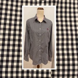 Brooks Brothers Red Fleece plaid buttoned blouse